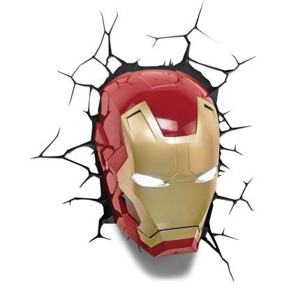 Iron Man 3 Face Marvel 3D LED Light